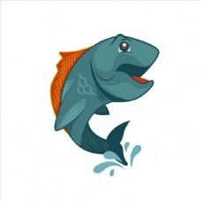 卡通鱼矢量