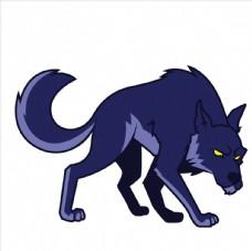 矢量卡通狼