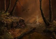 梦幻鹿树林