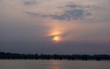沈阳丁香湖 黄昏 夕阳