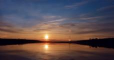 日落的黄昏景色