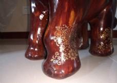 木象凳 大象 局部特写
