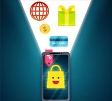 智能手机购物插图
