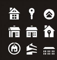 房屋图标 钥匙图标