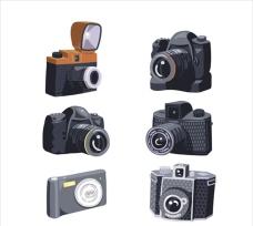 手绘老式相机插图集