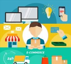 平面网络购物流程插图