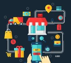 扁平化网络购物插图