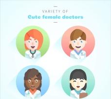 各种各样可爱的女医生