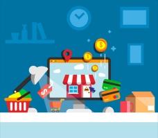 扁平化电子商务零售插图