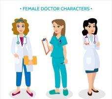 女医生卡通人物系列