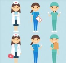 一组可爱的女医生