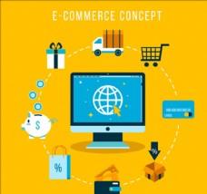 全球电子商务概念图