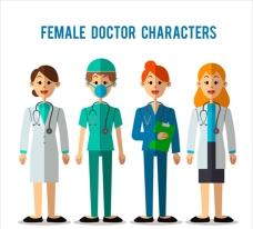 扁平化各种女医生角色集合