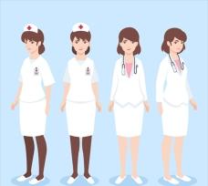 经典和现代女性医生插图