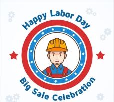 劳动节工人徽章设计