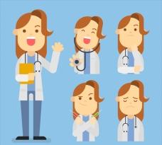 不同面孔的女医生