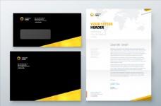 企业信封信函业务模板矢量素材