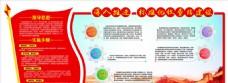 红色党建企业文化墙展板