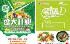 绿色蔬菜开业海报