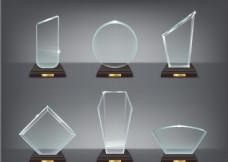 矢量透明奖杯