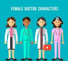 各种卡通女医生角色