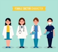 严肃的女医生角色