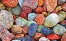 五彩斑斓鹅卵石