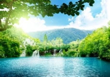 山林湖泊风景