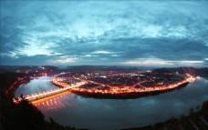 阆中古城夜景