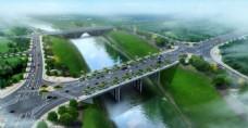 桥梁设计鸟瞰