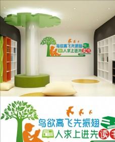 阅览室文化墙