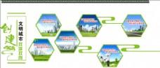 创建文明城市文化墙