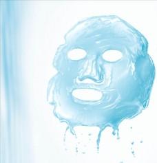 蓝色补水面膜化妆品素材