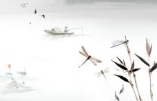 中国风山水画背景图