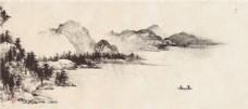 水墨山水画背景图