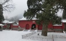 雪中的会善寺