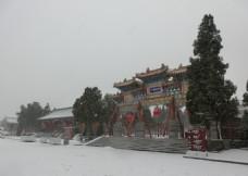 风雪中岳庙