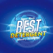 蓝色背景 洗衣液包装