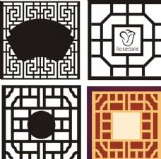 中式门窗花纹