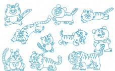 老虎简笔画