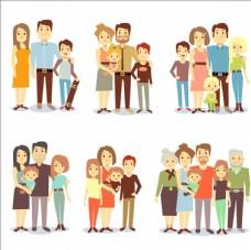 家庭人物矢量
