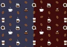 咖啡图案矢量素材