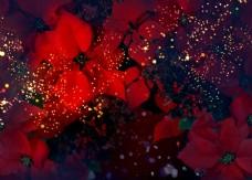 意境深远火红花朵装饰画效果图