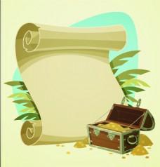 藏宝图矢量素材书信