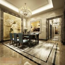 欧式风格餐厅瓷砖效果图
