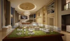 高档豪华房产售楼处3D模型