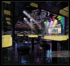 华丽高档酒吧模型