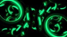 绿色圆环炫光动态视觉特效