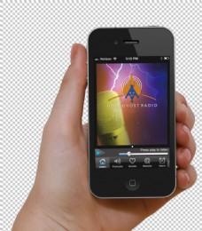 手持智能手机免抠png透明图层素材