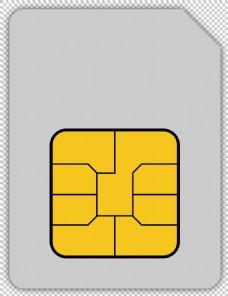 手机卡图标免抠png透明图层素材